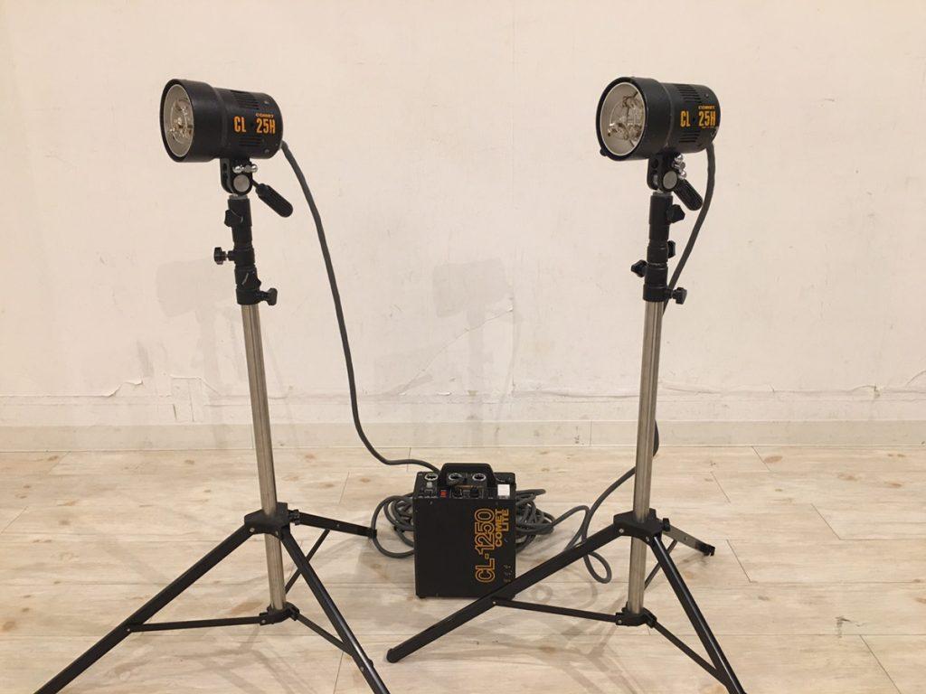 COMET コメット CL-1250 ジェネレーター CL-25H ストロボヘッド 2灯