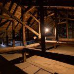 昭和区古民家スペースの屋根裏スペース